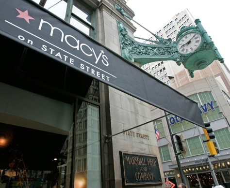 Image: Macy's sign on Marshall Field store