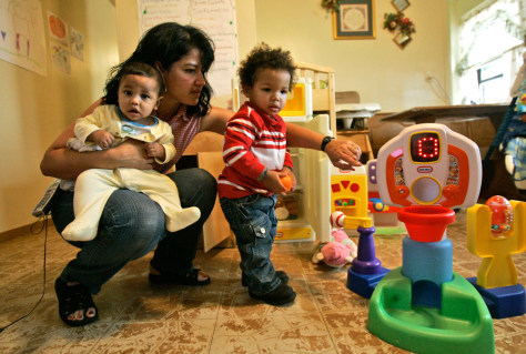 Image: child care workers