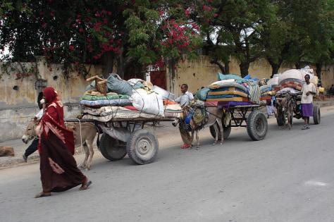 Image: Somalis fleeing Mogadishu.