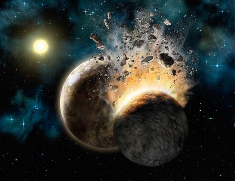 Image: Planetary collision