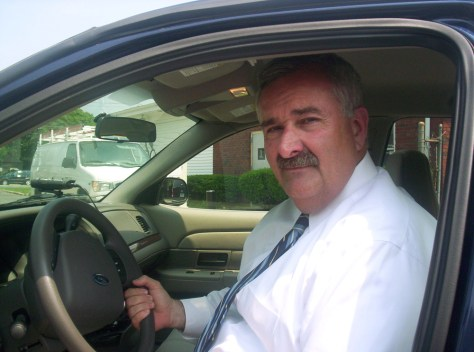 Image: Islip Town Supervisor Phil Nolan behind the wheel