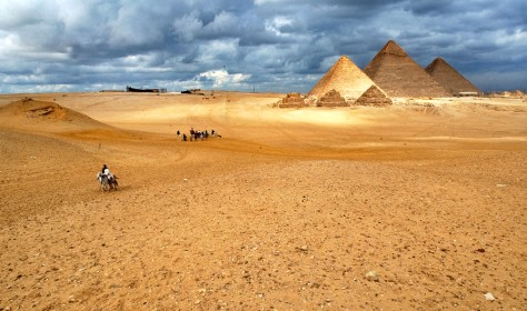 Image: Riding by the Pyramids