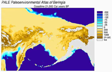 Image: A view of the Bering Strait land bridge