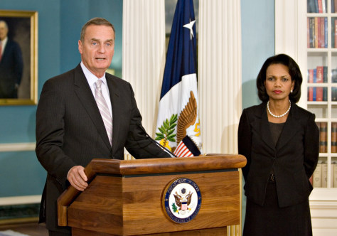 Image: James Jones, Condoleezza Rice