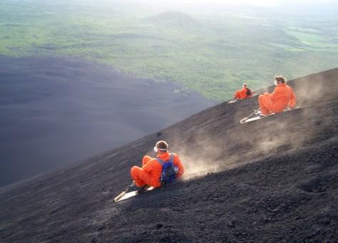 Image: Volcano surfing