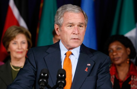 Image: George W. Bush, World AIDS day