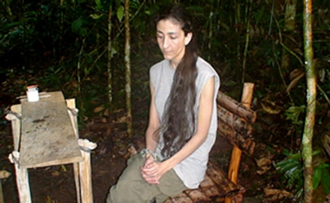 IMAGE: Ingrid Betancourt in captivity