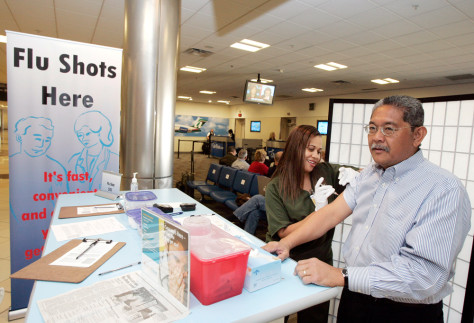 Image: Flu shot at airport