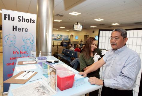 Image: Flu shot at airport