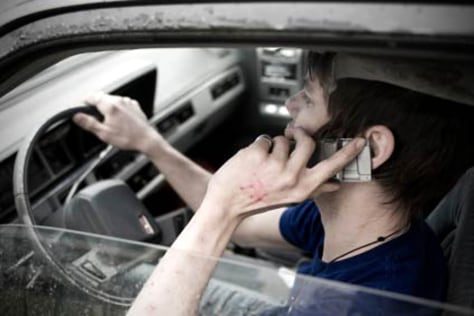 Driver using a cell phone