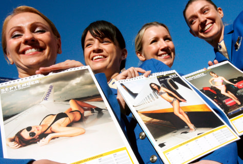 Image: Ryanair cabin crew calendar girls