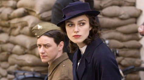 "Image: James McAvoy and Keira Knightley in  ""Atonement"""