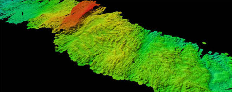 Image: Sonar image of the Arctic Ocean floor
