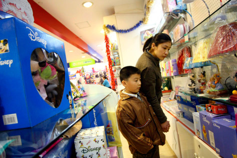 Image: Some Chinese families buy foreign-branded toys
