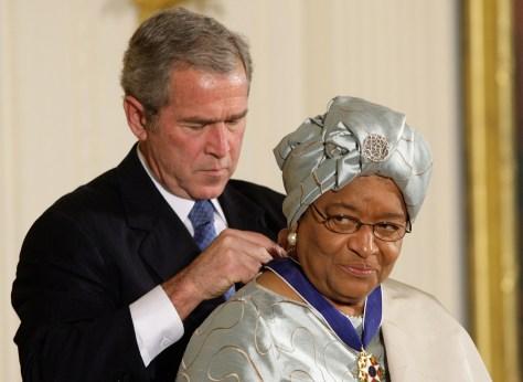 Image:President Bush, LiberiaPresidentEllen Johnson-Sirleaf