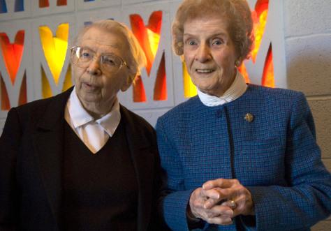 Image: Sister Antoine Daniel, left, and Sister Alberta