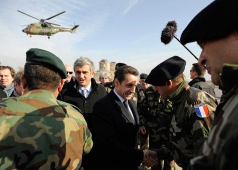 Image: France's President Nicolas Sarkozy