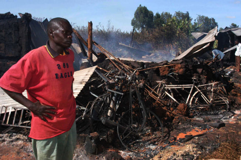 IMAGE: BURNED OUT CHURCH IN KENYA