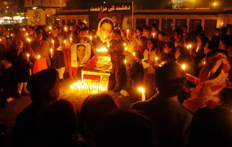 IMAGE: Bhutto vigil.