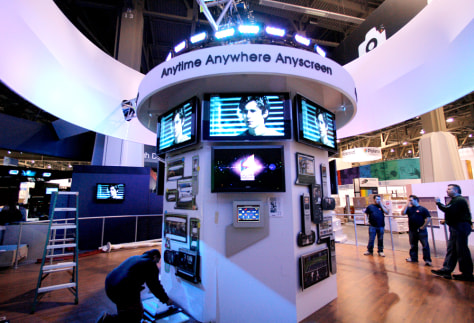 Image: The Sony booth at the Las Vegas Convention Center in Las Vegas