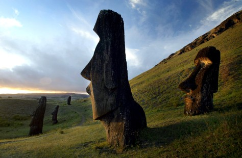 Image: Moai on Easter Island in Chile