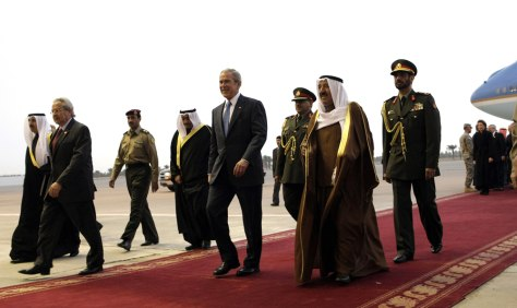 IMAGE: Bush arrives in Kuwait