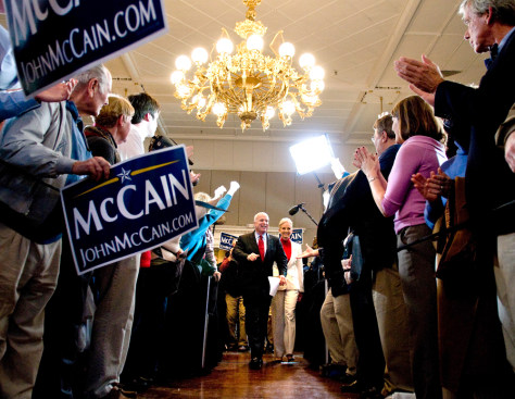Image: John McCain campaigning in South Carolina