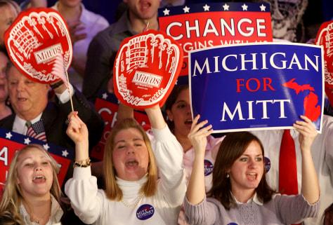 Image: Mitt Romney supporters