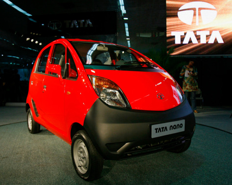 "Image: Tata ""Nano"" car."