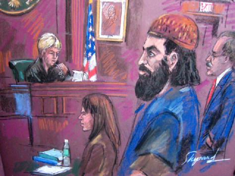Image: artist's sketch of Mohammed Mansour Jabarah
