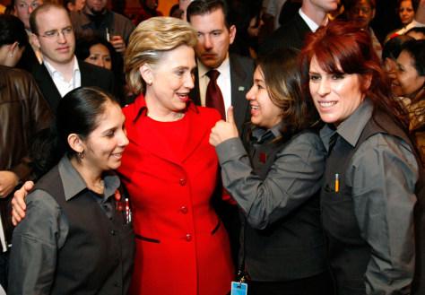 Image: Senator Hillary Clinton.