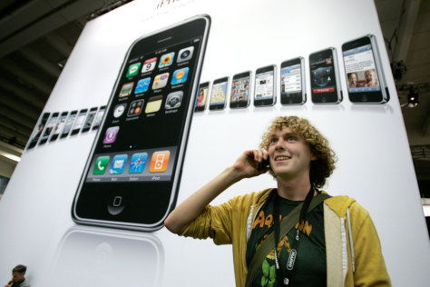 Image: Wil Gieseler talks on his Apple iPhone