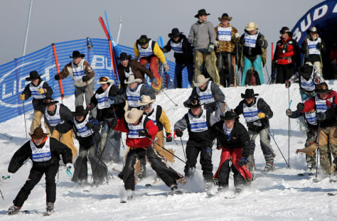 Image: Cowboys on skis