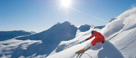 Image: A skier on the slopes in Whistler, British Columbia.
