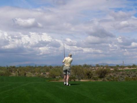 Image: Saguaro tee-off