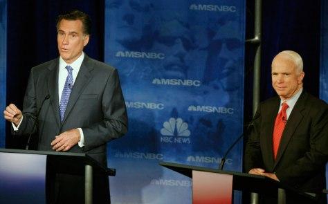 Image: Mitt Romney, John MCCain