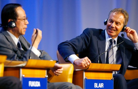 Image: Tony Blair at World Economic Forum