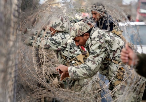 IMAGE: Egypt-Gaza border wall