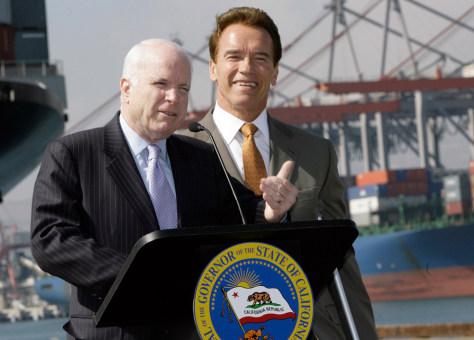 Image: John McCain and Arnold Schwarzenegger