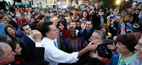 Image: Mitt Romney campaigns in San Diego, Calif.