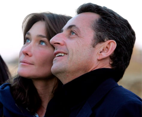 Image: Nicolas Sarkozy and Carla Bruni