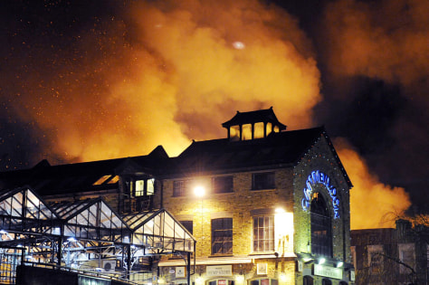 Image: Fire at London's Camden market