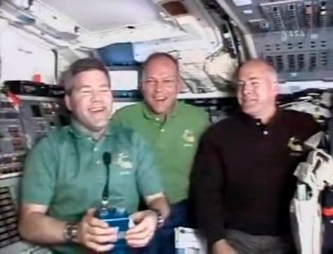 Image: Steve Frisk, left, Hans Schlegel and Alan Poindexter, right