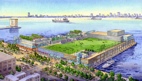 Image: Proposed redevelopment projects for Pier 40 in New York city