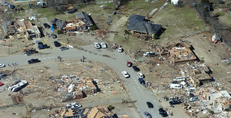 Image: Homes destroyed by tornado in Prattville, Ala.