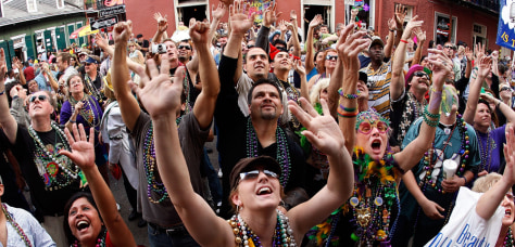 Image: Mardi Gras celebrations in New Orleans