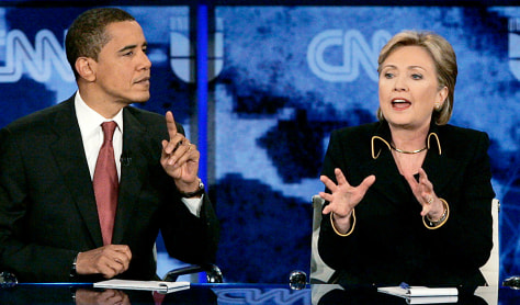 Image: Barack Obama and Hillary Clinton