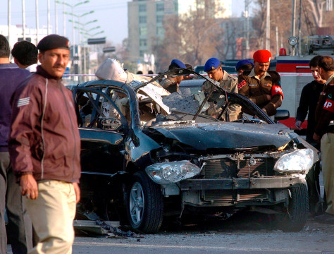 Image: Six killed including Army General in suicide bomb attack