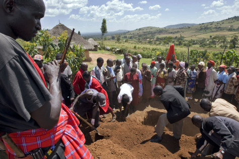 IMAGE: Funeral for Masai warrior