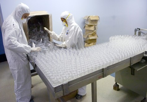 Image: Employees work at Hi-Tech Pharmaceuticals